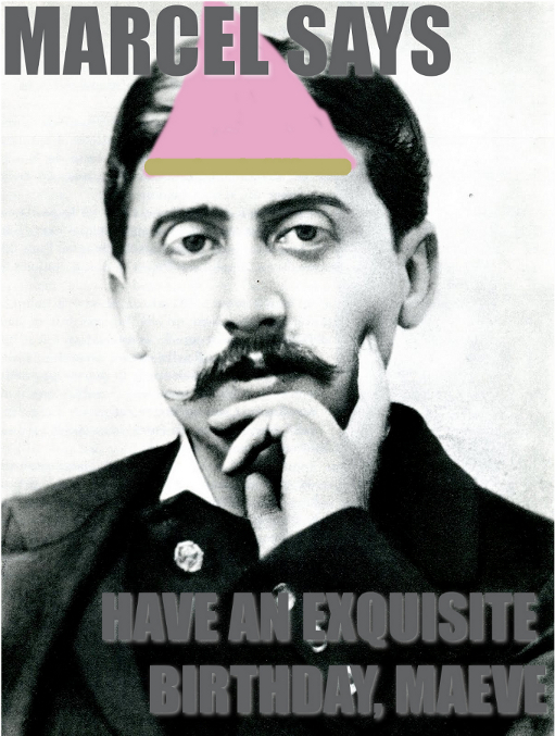 Proust birthday card